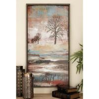 41 in. x 22 in. Traditional Multicolored Winter Melt ...