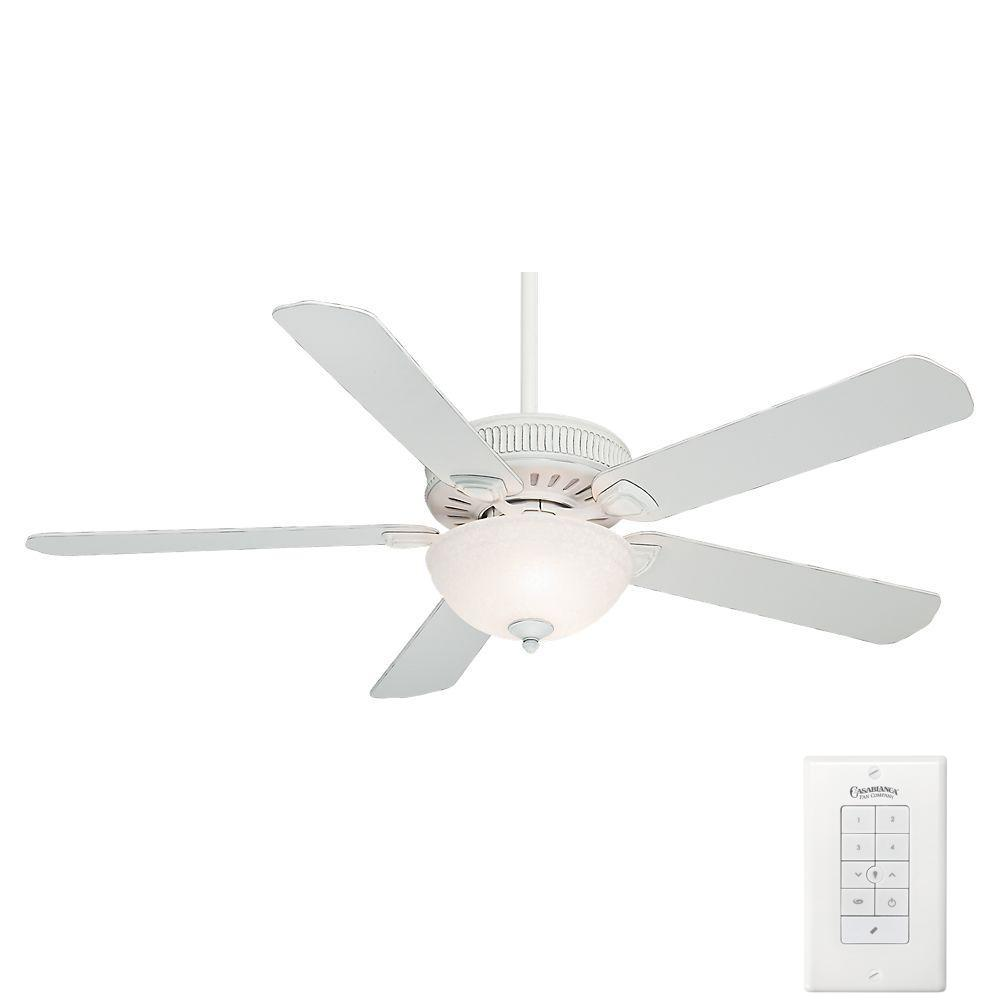 hight resolution of casablanca ainsworth gallery 60 in indoor cottage white ceiling fan with 4 speed wall