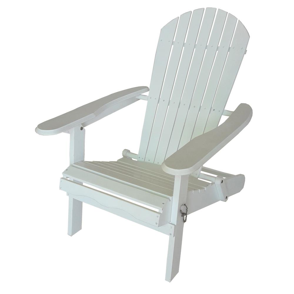 Leigh Country White Wood Folding Adirondack ChairTX 39010