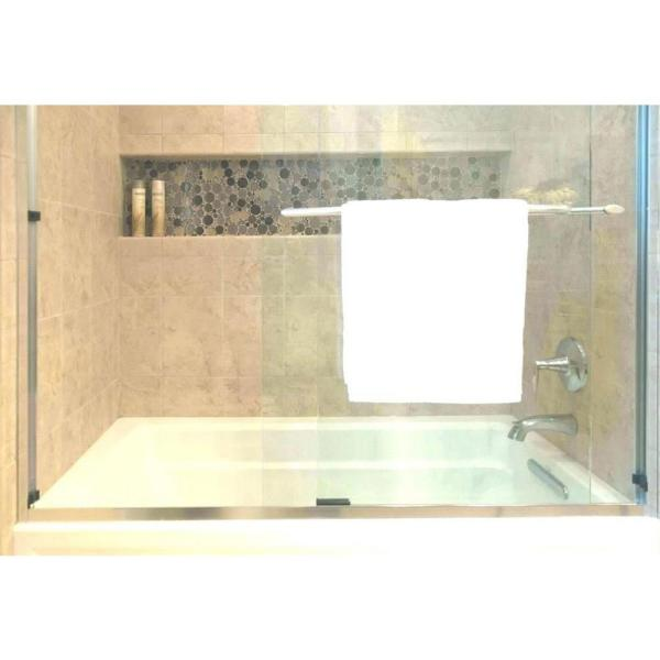 Emoderndecor Flush Mount Installation 14 In X 50 In X 4 In Abs Single Bathroom Recessed Shower Niche For Shampoo Toiletry Storage Str 1450 The Home Depot