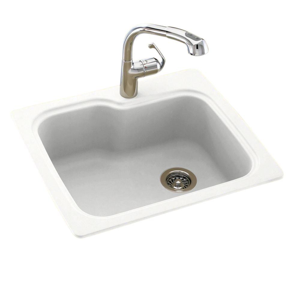 swanstone single bowl kitchen sink taylor scale swan dual mount composite 25 in. 1-hole ...