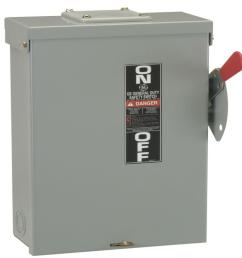 60 amp 240 volt fusible outdoor general duty safety switch [ 1000 x 1000 Pixel ]