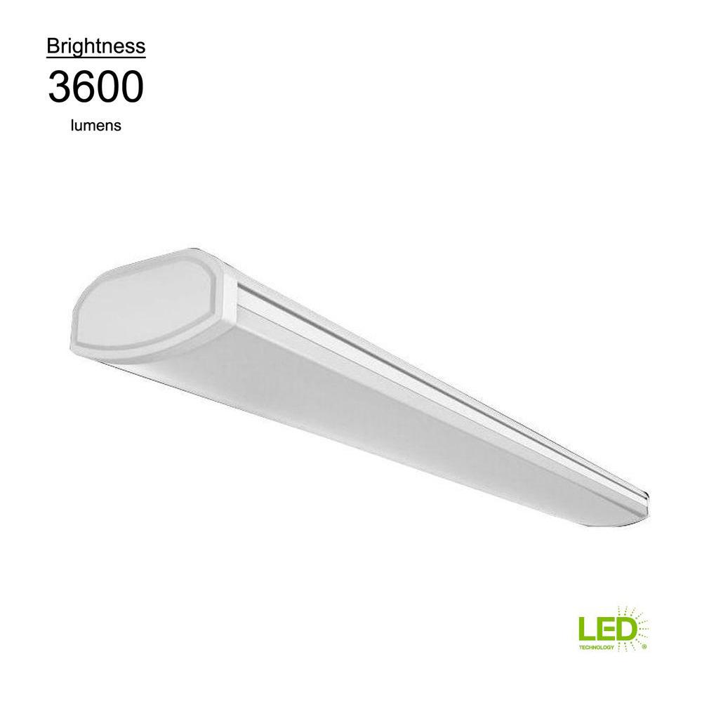 hight resolution of bright and cool white linear led direct wire powered low profile wrap flushmount ceiling light fixture