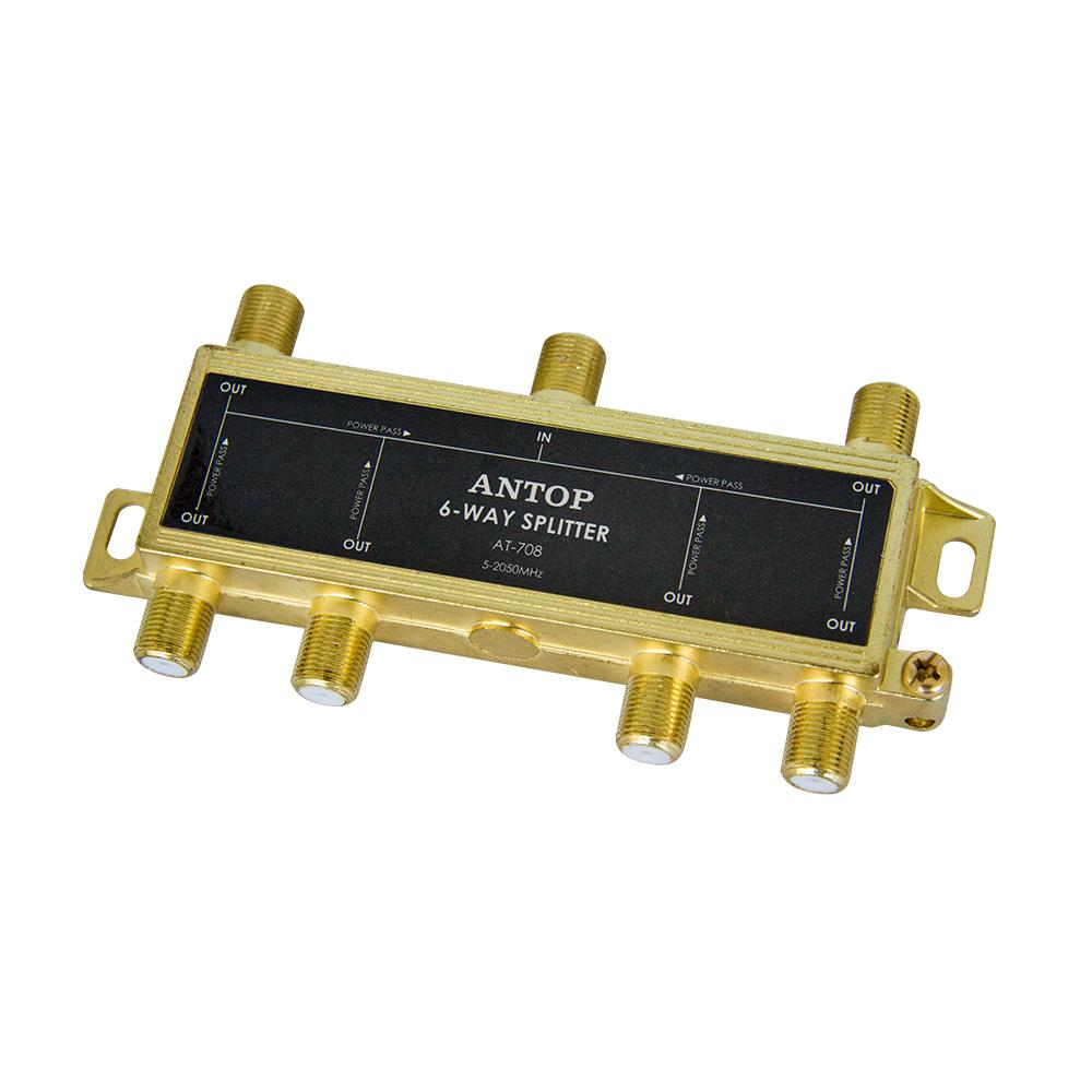 medium resolution of coaxial splitter 6 way 2ghz 5 2050mhz low loss rf for tv satellite