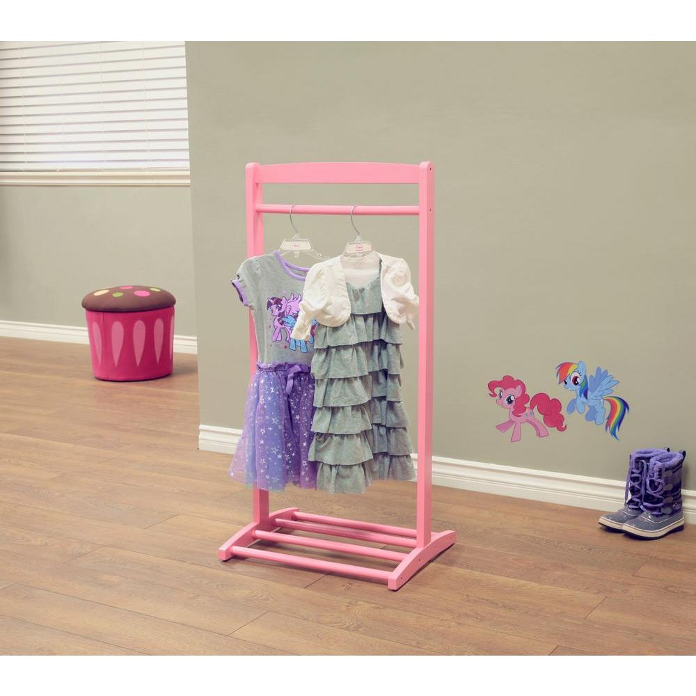 Homecraft Furniture 1 Hook Kids Cloths Hanger In Pink