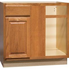 Kitchen Base Cabinets Shades Farmhouse The Home Depot Hampton Assembled 36x34 5x24 In Blind Corner Cabinet Medium