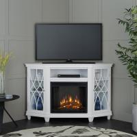 Real Flame Lynette 56 in. Corner Electric Fireplace in ...