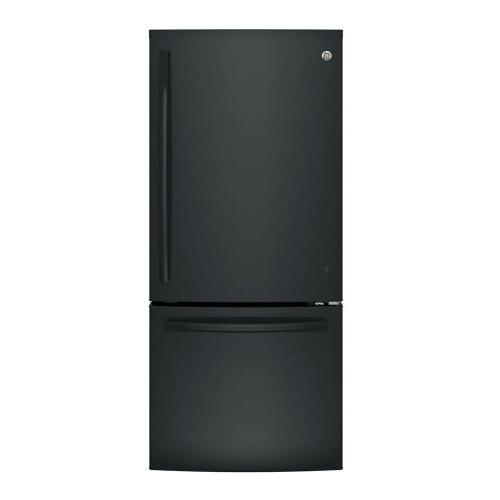 small resolution of ge 21 0 cu ft bottom freezer refrigerator in stainless steel gbe21dskss the home depot