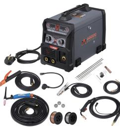 amico power 205 amp mig wire feed flux core tig torch stick arc [ 1000 x 1000 Pixel ]
