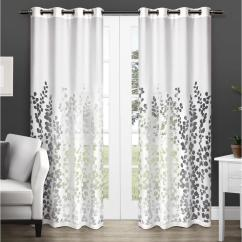 White Curtains For Living Room Small With Wood Stove Ideas Wilshire 52 In W X 108 L Sheer Grommet Top Curtain Panel Winter 2 Panels Eh8082 01 108g The Home Depot