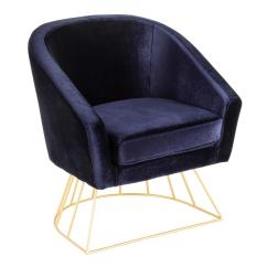 Metal Tub Chairs Revolving Chair Olx Lahore Lumisource Canary Gold And Blue Velvet Ch Cnry Au Bu The
