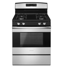 amana 30 in 5 0 cu ft gas range in stainless steel [ 1000 x 1000 Pixel ]