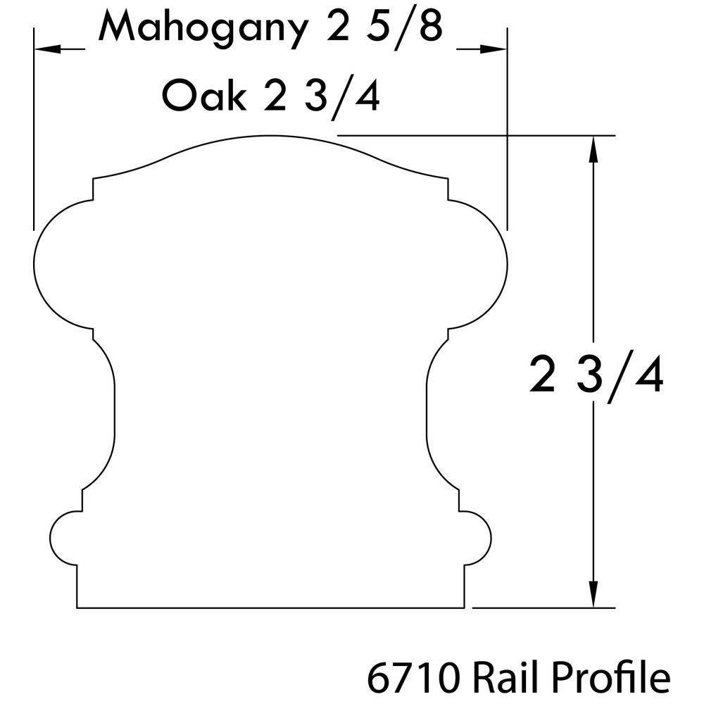 Stair Parts 6710 12 Ft Unfinished Red Oak Stair Handrail 6710R   Oak Handrail Home Depot   Bending   Handrail Fitting   Iron   6010   Quarter Turn