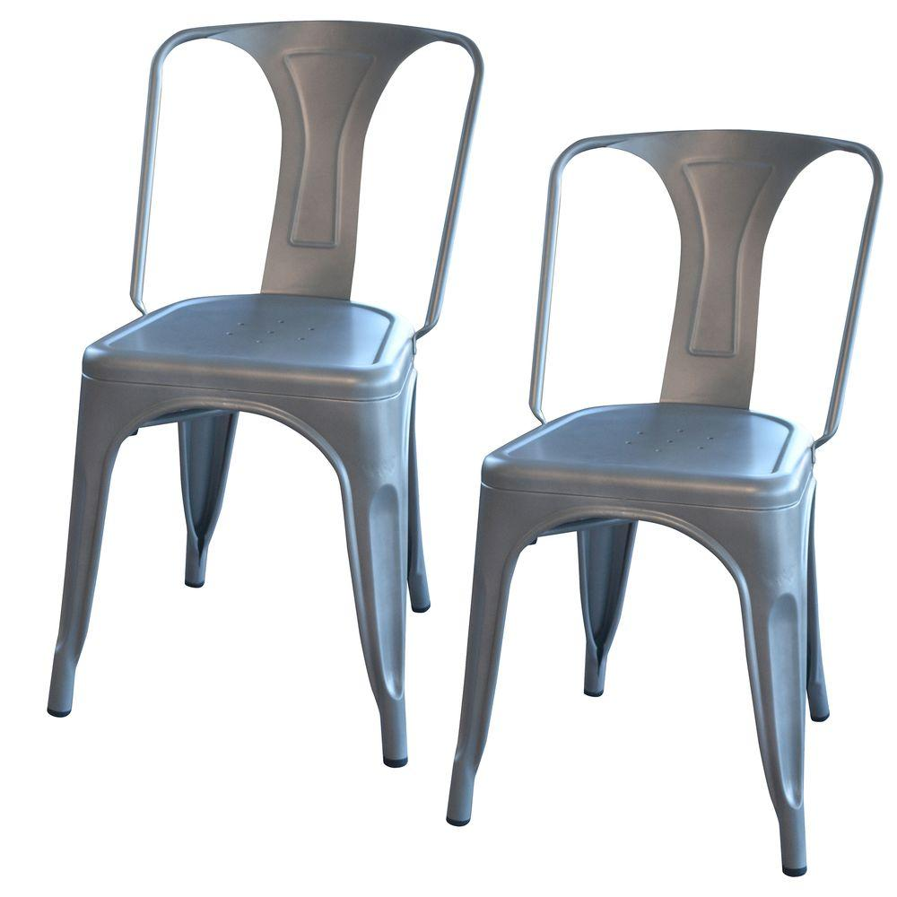 silver metal dining chairs gaming chair best amerihome white set of 2 bs3530wset the home depot