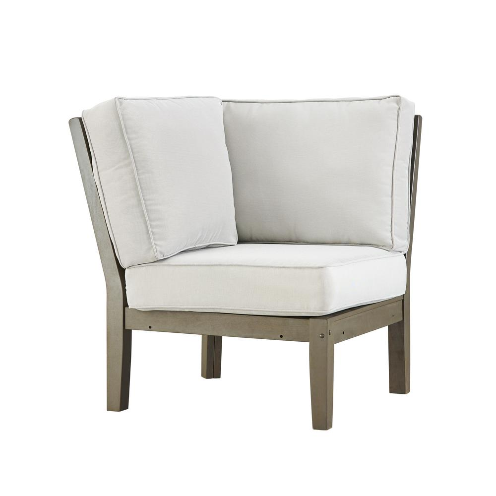 corner lounge chair white stool homesullivan verdon gorge gray oiled wood outdoor with beige cushion