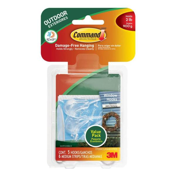 3m Command Outdoor Window Hook With Clear - Year of Clean Water