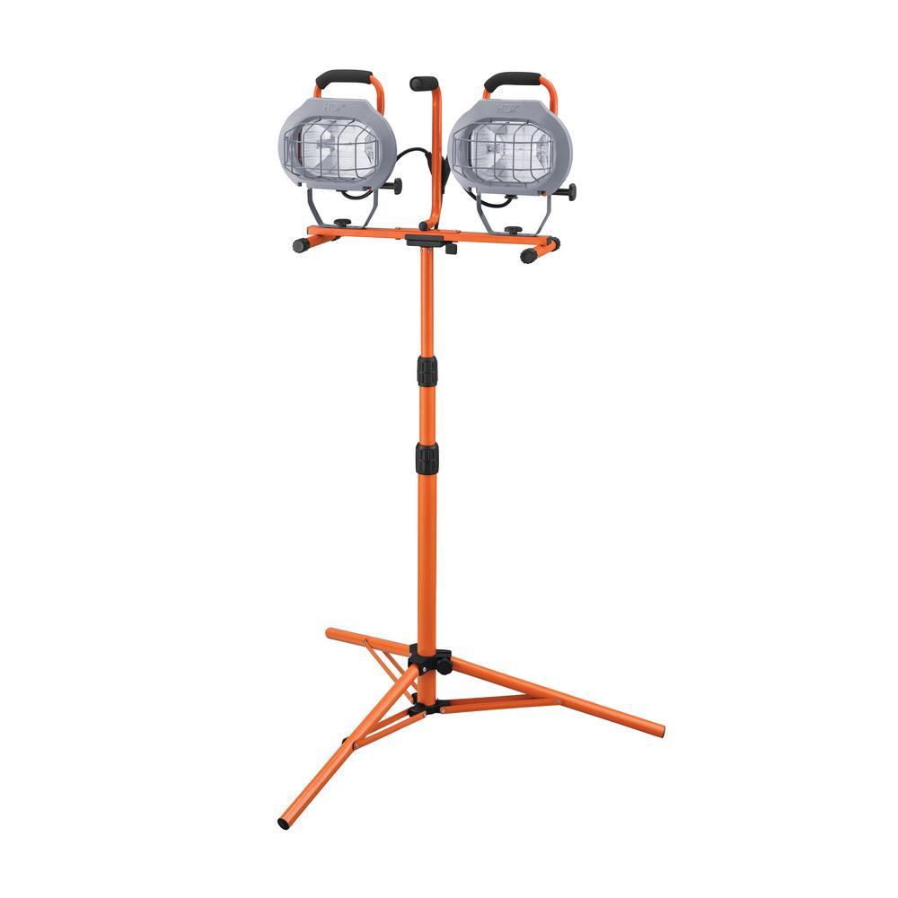 HDX 1000-Watt Halogen Twin-Head Tripod Work Light-637449