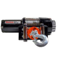 capacity 12 volt electric winch with 46 ft steel cable super deluxe package [ 1000 x 1000 Pixel ]