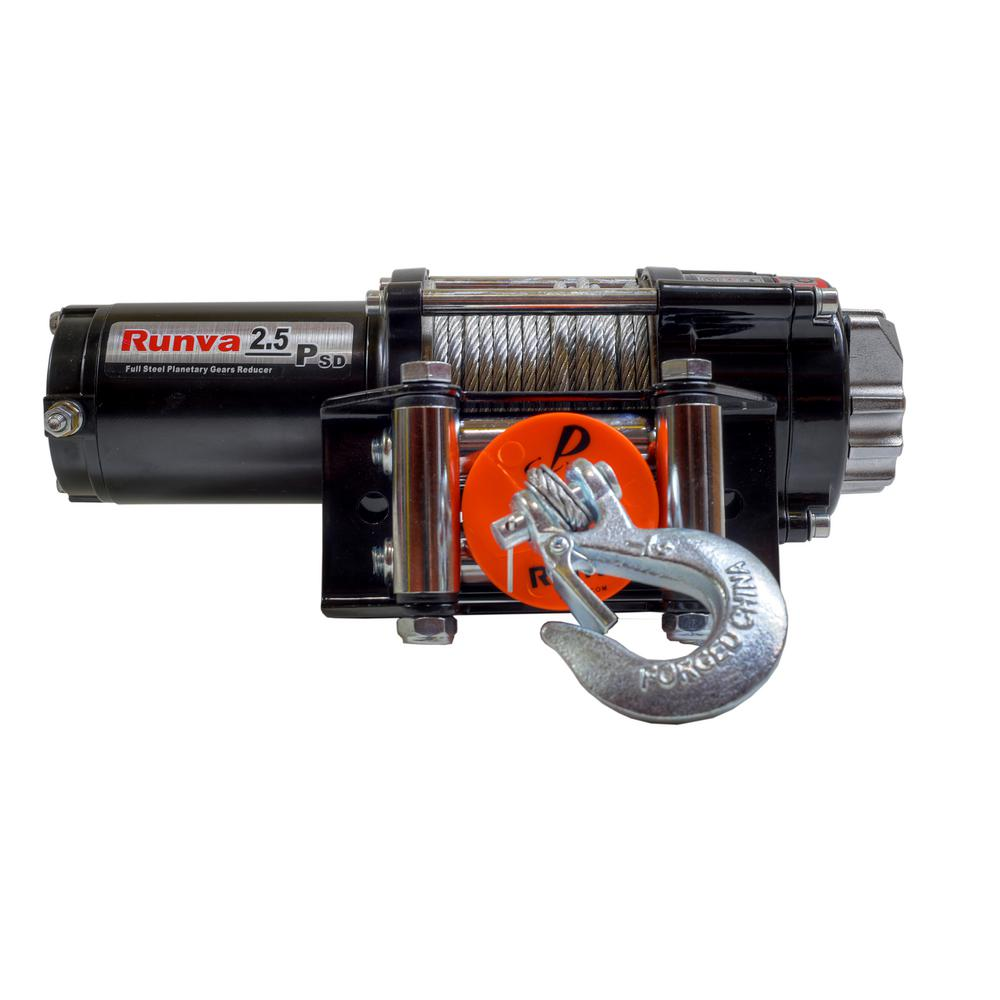 hight resolution of capacity 12 volt electric winch with 46 ft steel cable