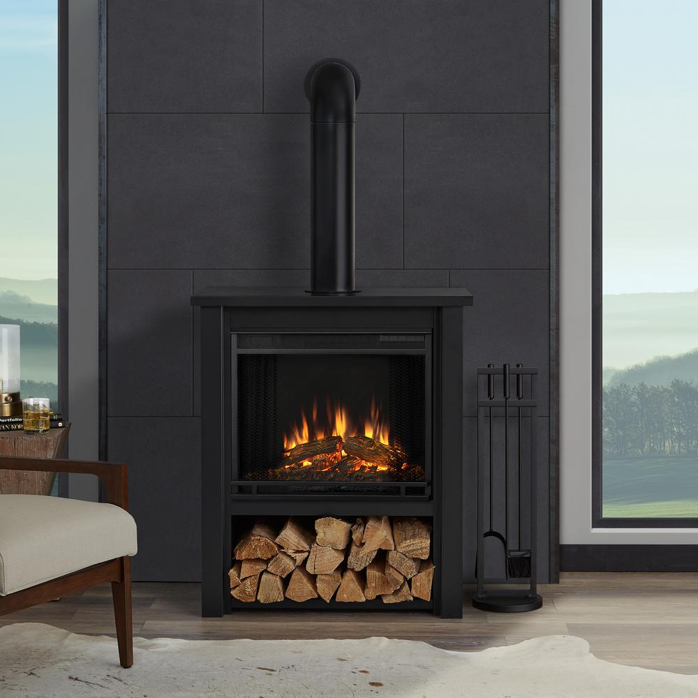 Real Flame Maxwell 58 in Grand Series Electric Fireplace in Black Wash8030EBW  The Home Depot