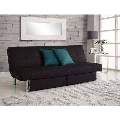 delaney futon sofa bed 3 piece living room set design ideas for decorating your dhp futons furniture the home depot black sola sleeper and