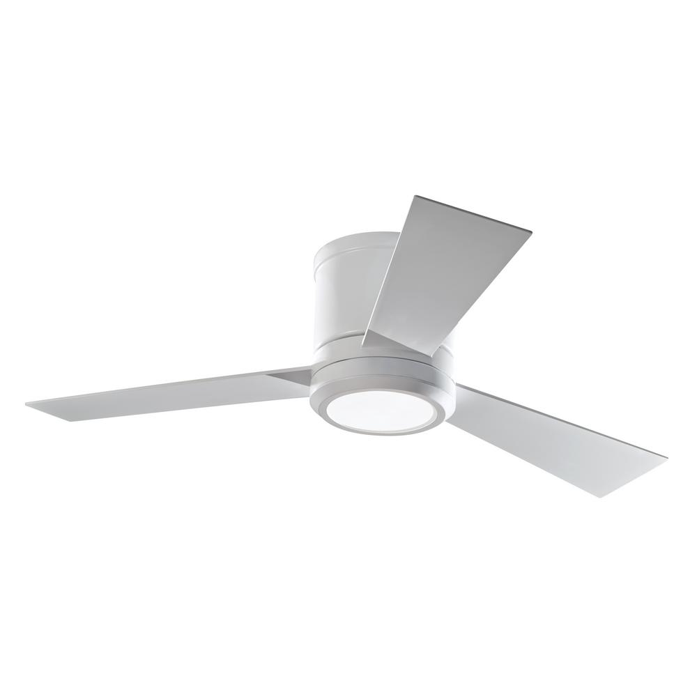 medium resolution of monte carlo clarity ii 42 in integrated led matte white ceiling fan with 3