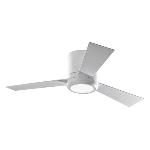 small resolution of monte carlo clarity ii 42 in integrated led matte white ceiling fan with 3