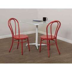 Red Kitchen Chairs Drop In Stainless Steel Sinks Dining Room Furniture The Home Depot Odessa Solid Metal Chair