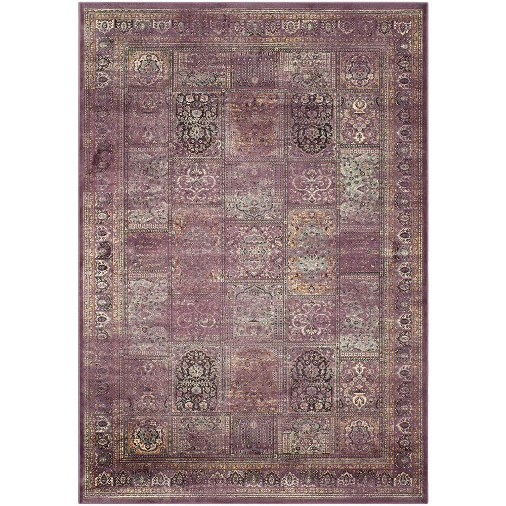 Safavieh Vintage PurpleFuchsia 8 ft x 11 ft Area RugVTG1278808  The Home Depot