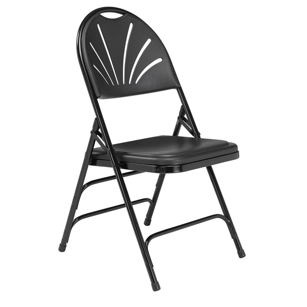 public seating chairs umbrella chair walmart national nps 1100 series polyfold black fan back folding pack of 4