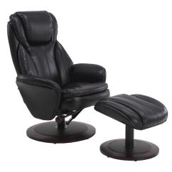 Recliner Vs Chair With Ottoman White Velvet Dining Chairs Mac Motion Comfort Black Breatheable Fabric Swivel Norway 809 25a 200 The Home Depot