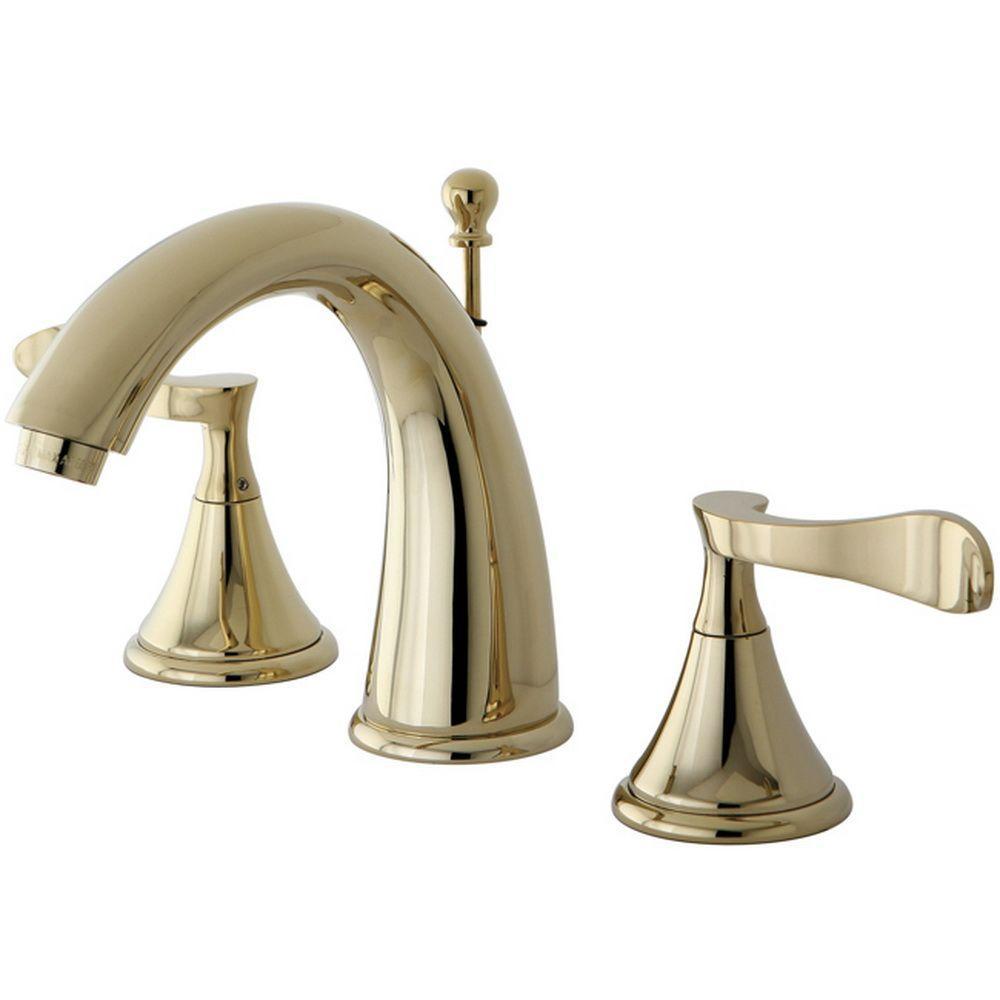 Kingston Brass Modern 8 in Widespread 2Handle HighArc