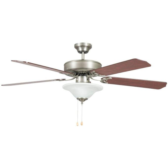 Concord Fans Heritage Square 52 In Indoor Satin Nickel Ceiling Fan