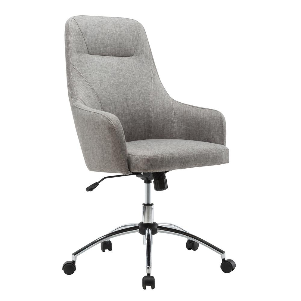 Techni Mobili Gray Comfy Height Adjustable Rolling Office Desk ChairRTA1005GRY  The Home Depot