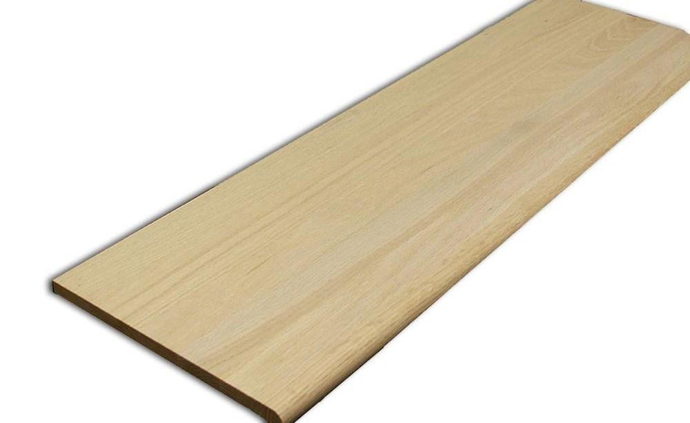 Stairtek 625 In X 11 5 In X 48 In Unfinished Red Oak Retread | 48 Inch Red Oak Stair Treads | Wood Stair | Stair Nosing | Solid Oak | Stair Riser Kit | Bull Nose