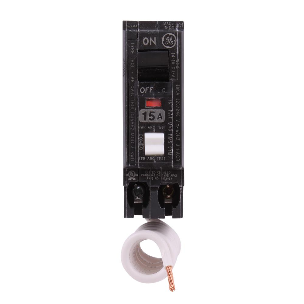 hight resolution of single pole arc fault circuit breaker q line 15 amp 2 position push button new
