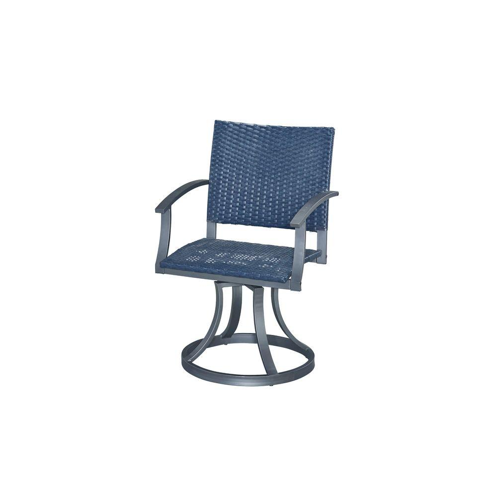 Styles Of Chairs Home Styles Gray All Weather Wicker Motion Patio Dining Chair