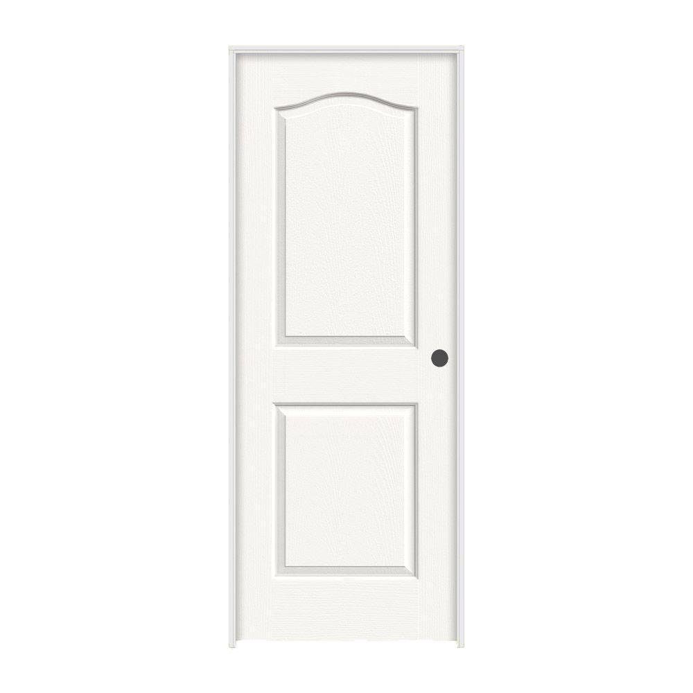 JELD-WEN 28 in. x 80 in. Princeton White Painted Left-Hand