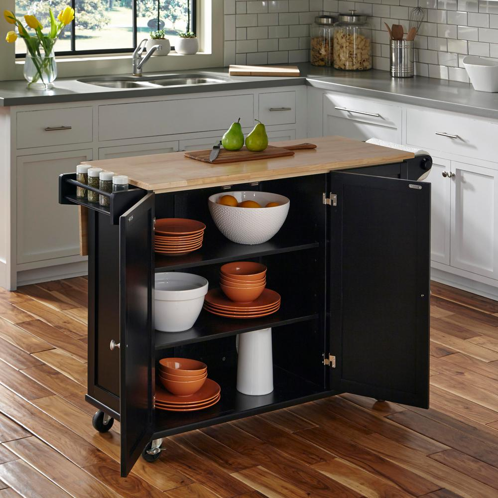 Dolly Madison Liberty Black Kitchen Cart451095  The