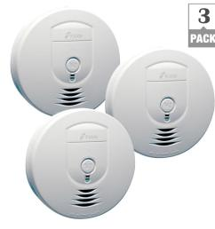 kidde battery operated smoke detector with wire free interconnect 3 pack  [ 1000 x 1000 Pixel ]
