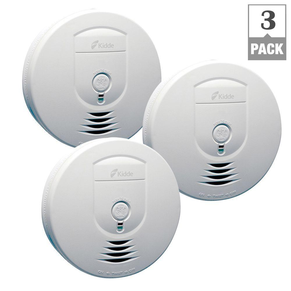 hight resolution of kidde battery operated smoke detector with wire free interconnect 3 pack rf sm dc the home depot
