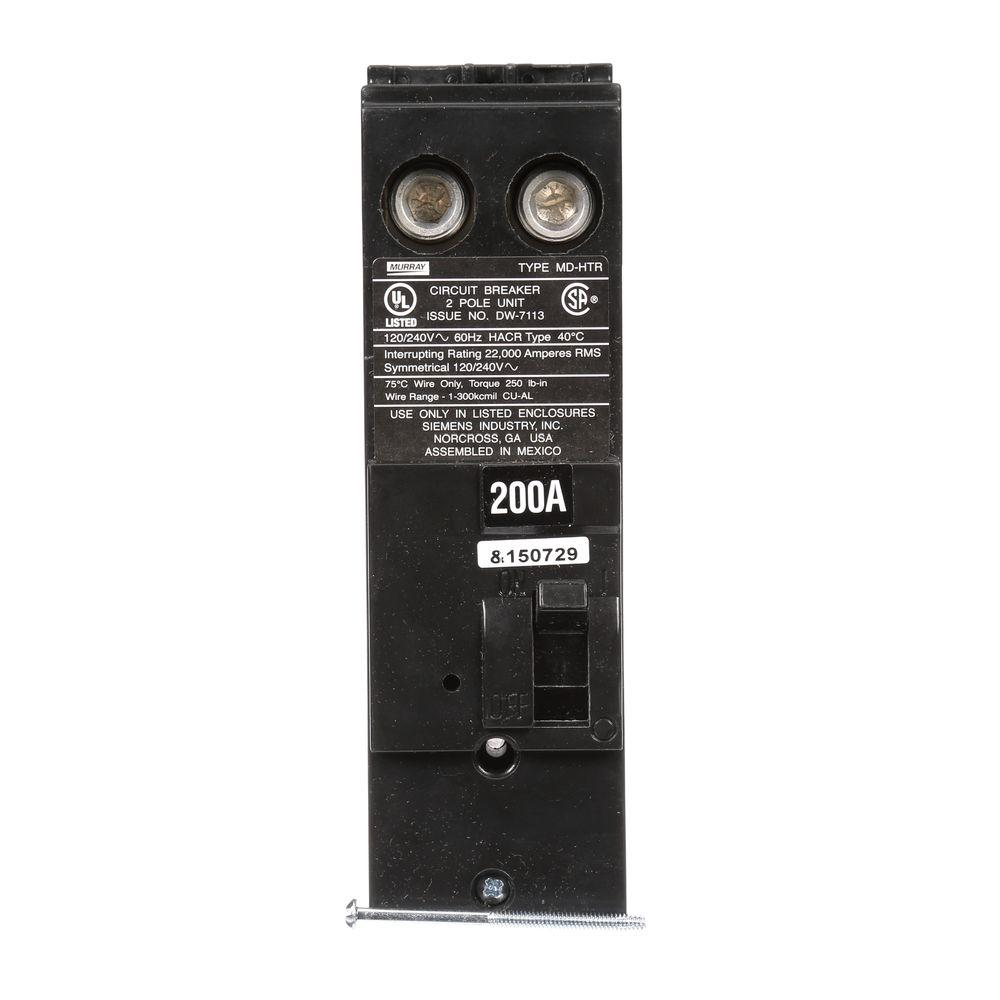 medium resolution of 200 amp double pole 22 ka type md ht reverse handle circuit breaker