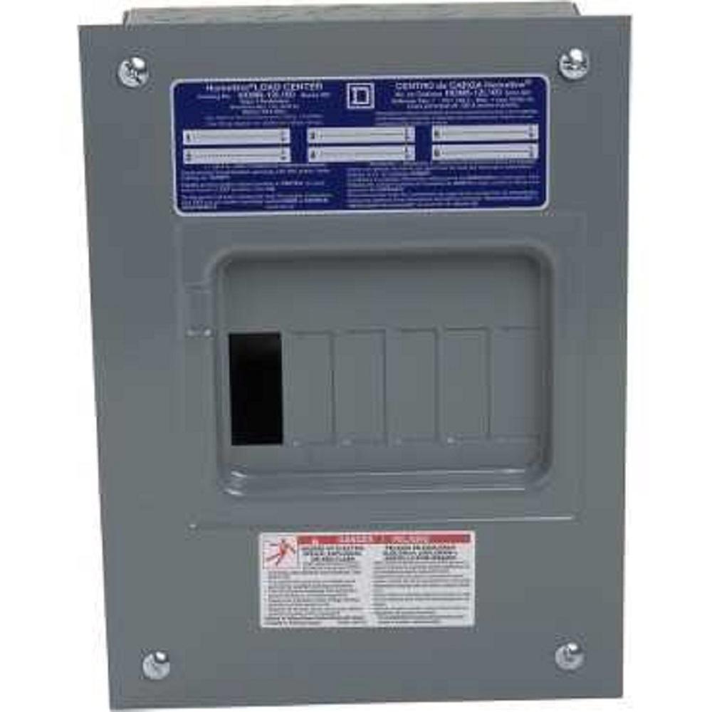 30 Amp Qo Breaker Wiring Diagram Square D Homeline 100 Amp 6 Space 12 Circuit Indoor Flush