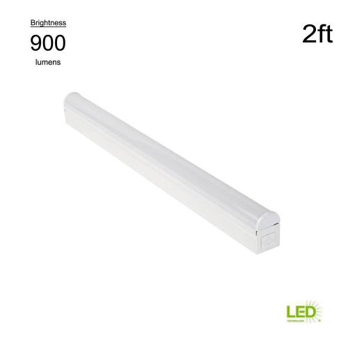 small resolution of plug in or direct wire power connection 2 ft white 4000k integrated led strip light with power cord and linking cord