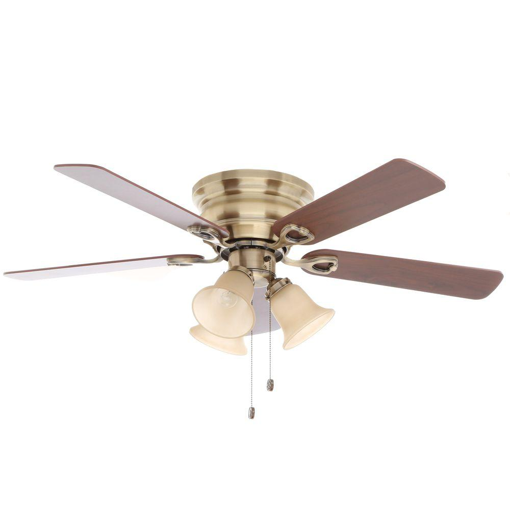 Flush Mount Ceiling Fans With Lights Home Depot