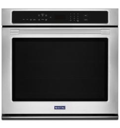 maytag 27 in single electric wall oven with true convection in fingerprint resistant stainless steel [ 1000 x 1000 Pixel ]
