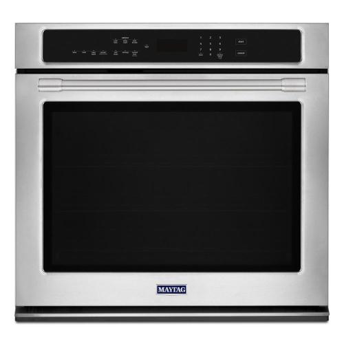 small resolution of maytag 27 in single electric wall oven with true convection in fingerprint resistant stainless steel