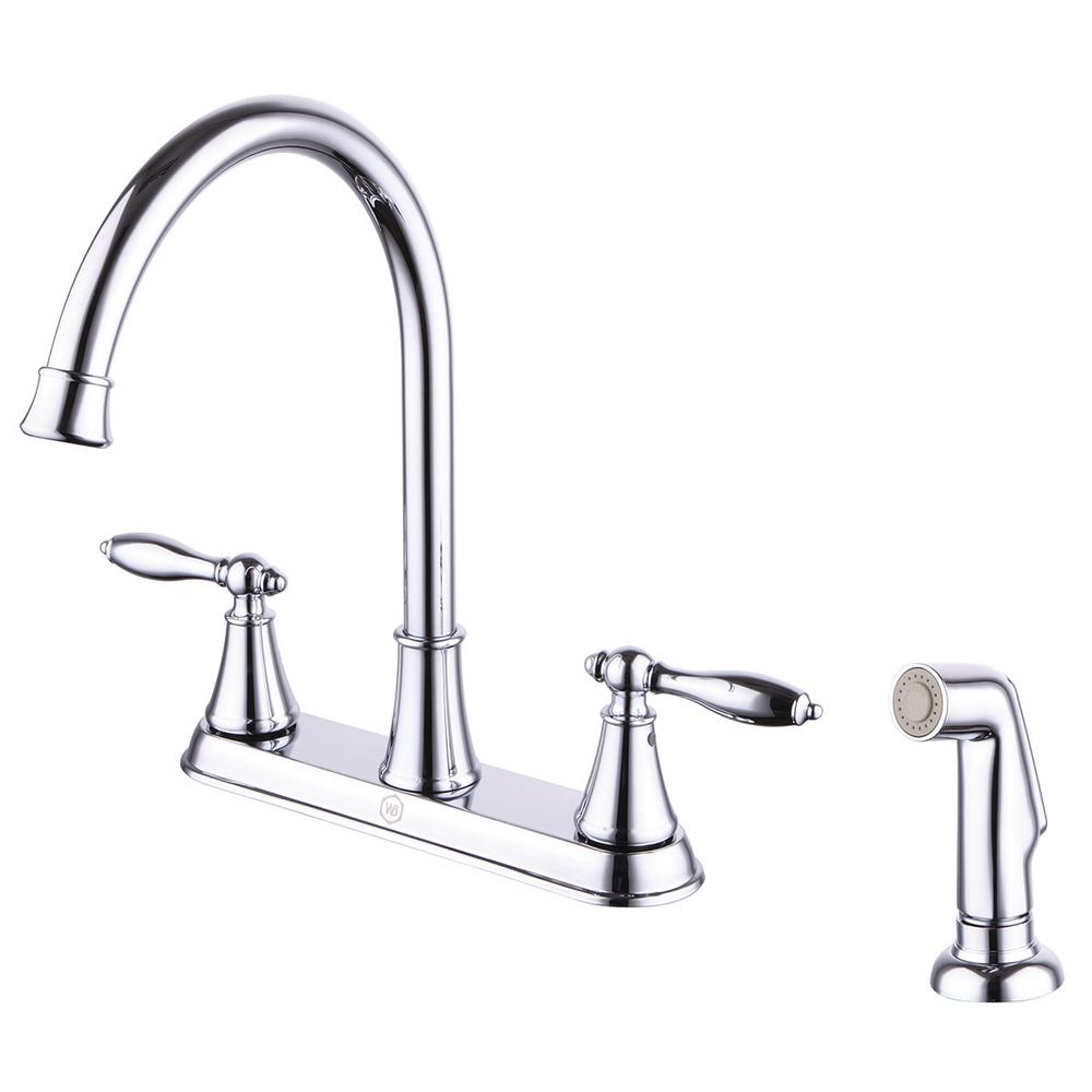 Windon Bay Winchester 2-Handle Kitchen Faucet with Side