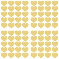 WallPOPs Metallic Metallic Gold Hearts Wall Decal (Set of