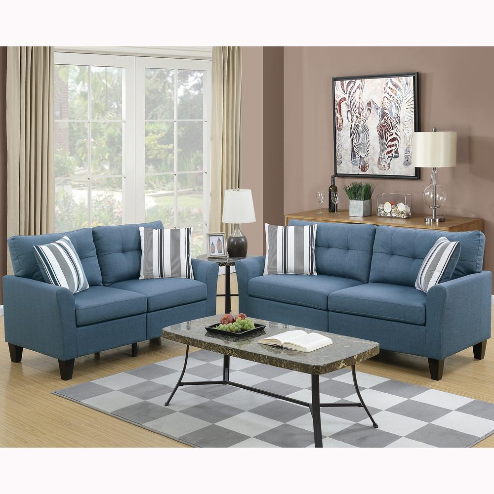 living room set on sale pottery barn sets furniture the home depot sardinia 2 piece blue sofa